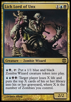 Magic the Gathering Alara Reborn Single Lich Lord of Unx FOIL - SLIGHT PLAY (SP)