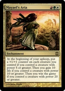 Magic the Gathering Alara Reborn Single Mayael's Aria Foil - SLIGHT PLAY (SP)
