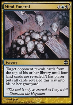 Magic the Gathering Alara Reborn Single Mind Funeral FOIL - SLIGHT PLAY (SP)