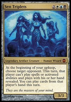 Magic the Gathering Alara Reborn Single Sen Triplets FOIL - SLIGHT PLAY (SP)