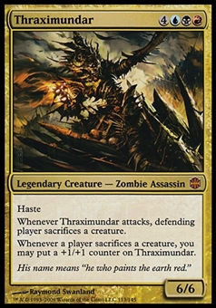 Magic the Gathering Alara Reborn Single Thraximundar - MODERATE PLAY (MP)