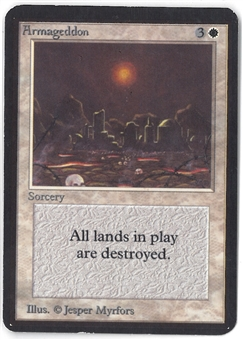 Magic the Gathering Alpha Single Armageddon - SLIGHT PLAY (SP)