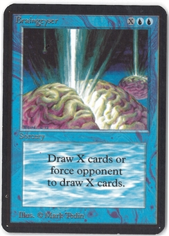 Magic the Gathering Alpha Single Braingeyser - SLIGHT PLAY (SP)