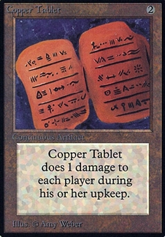 Magic the Gathering Alpha Single Copper Tablet - HEAVY PLAY (HP)