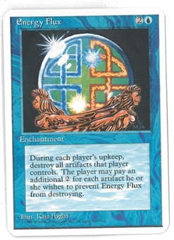 Magic the Gathering ALPHA CUT 4th Edition Single Energy Flux - SLIGHT PLAY (SP)