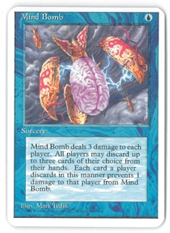 Magic the Gathering ALPHA CUT 4th Edition Single Mind bomb - SLIGHT PLAY (SP)