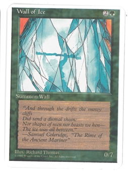 Magic the Gathering ALPHA CUT 4th Edition Single Wall of Ice - SLIGHT PLAY (SP)