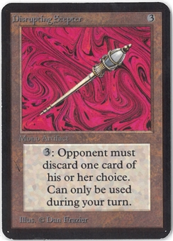 Magic the Gathering Alpha Single Disrupting Scepter - SLIGHT PLAY (SP)