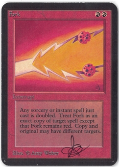 Magic the Gathering Alpha Single Fork (Signed by Artist) - SLIGHT PLAY (SP)