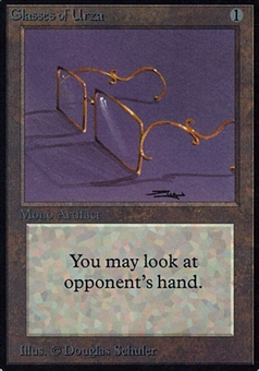 Magic the Gathering Alpha Single Glasses of Urza - NEAR MINT (NM)