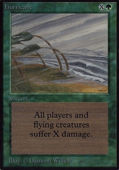 Magic the Gathering Alpha Single Hurricane - HEAVY PLAY (HP)