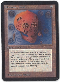 Magic the Gathering Alpha Single Illusionary Mask - MODERATE PLAY (MP)
