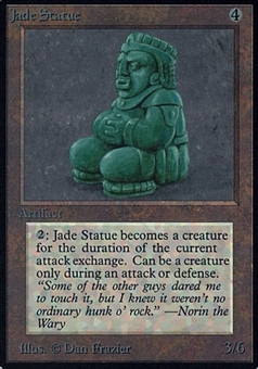 Magic the Gathering Alpha Single Jade Statue - SLIGHT PLAY (SP)