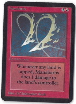 Magic the Gathering Alpha Single Manabarbs - SLIGHT PLAY (SP)