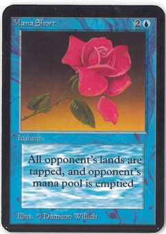 Magic the Gathering Alpha Single Mana Short - SLIGHT PLAY (SP)