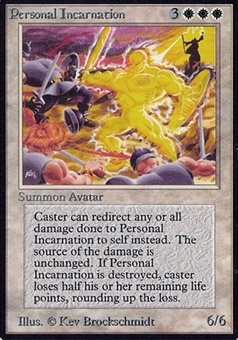 Magic the Gathering Beta Single Personal Incarnation - MODERATE PLAY (MP)