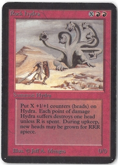 Magic the Gathering Alpha Single Rock Hydra - MODERATE PLAY (MP)