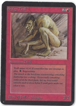 Magic the Gathering Alpha Single Sedge Troll - SLIGHT PLAY (SP)