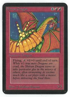 Magic the Gathering Alpha Single Shivan Dragon - SLIGHT PLAY (SP)