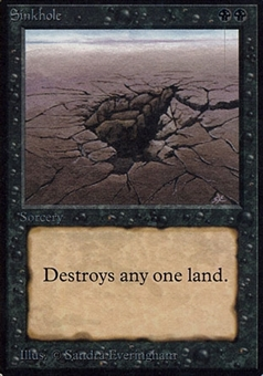 Magic the Gathering Alpha Single Sinkhole - SLIGHT / MODERATE PLAY (SP/MP)