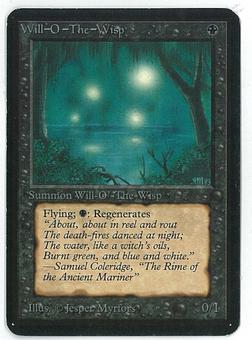 Magic the Gathering Alpha Single Will-O-The-Wisp - SLIGHT PLAY (SP)