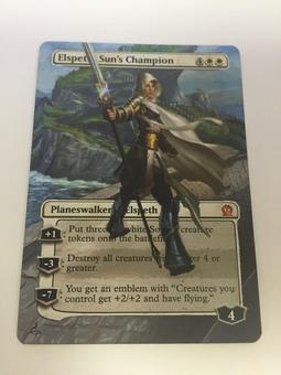 Magic the Gathering Theros Single Elspeth, Sun's Champion ALTERED - NEAR MINT (NM)