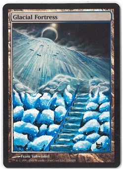 Magic the Gathering Magic 2010 Single Glacial Fortress (ALTERED) - NEAR MINT (NM)