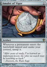 Magic the Gathering Worldwake Single Amulet of Vigor - SLIGHT PLAY (SP)