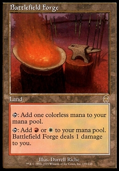 Magic the Gathering Apocalypse Single Battlefield Forge FOIL - MODERATE PLAY (MP)