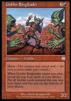 Magic the Gathering Apocalypse Single Goblin Ringleader FOIL - SLIGHT PLAY (SP)