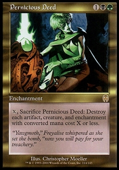 Magic the Gathering Apocalypse Single Pernicious Deed - MODERATE PLAY (MP)