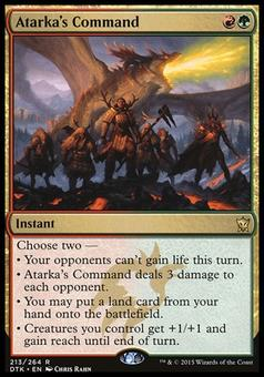 Magic the Gathering Promo Single Atarka's Command FOIL - SLIGHT PLAY (SP)