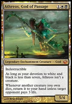 Magic the Gathering Journey into Nyx Single Athreos, God of Passage - MODERATE PLAY (MP)