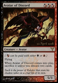 Magic the Gathering Promotional Single Avatar of Discord FOIL - SLIGHT PLAY (SP)