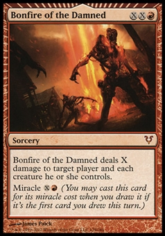 Magic the Gathering Avacyn Restored Single Bonfire of the Damned - SLIGHT PLAY (SP)