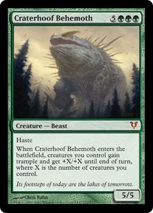 Magic the Gathering Avacyn Restored Single Craterhoof Behemoth - MODERATE PLAY (MP)