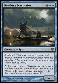 Magic the Gathering Avacyn Restored Single Deadeye Navigator FOIL - SLIGHT PLAY (SP)