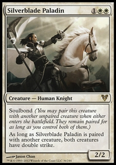 Magic the Gathering Avacyn Restored Single Silverblade Paladin - SLIGHT PLAY (SP)