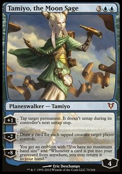 Magic the Gathering Avacyn Restored Single Tamiyo, the Moon Sage FOIL - SLIGHTLY PLAYED