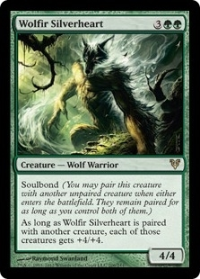 Magic the Gathering Avacyn Restored Single Wolfir Silverheart - NEAR MINT (NM)