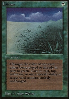 Magic the Gathering Beta Single Lifelace - SLIGHT PLAY (SP)