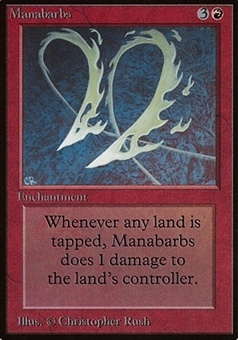 Magic the Gathering Beta Single Manabarbs - SLIGHT PLAY (SP)