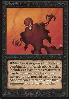 Magic the Gathering Beta Single Nether Shadow - MODERATE PLAY (MP)
