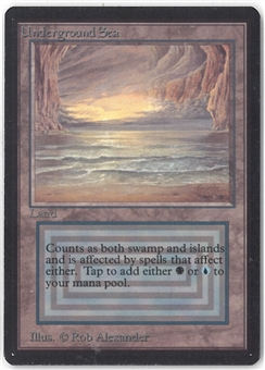 Magic the Gathering Beta Single Underground Sea - MODERATE PLAY (MP) + Inking