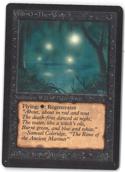 Magic the Gathering Beta Single Will-o'-the-Wisp - NEAR MINT (NM)