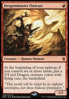 Magic the Gathering Battle For Zendikar Single Dragonmaster Outcast - NEAR MINT (NM)