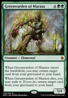 Magic the Gathering Battle for Zendikar Single Greenwarden of Murasa Foil NEAR MINT (NM)