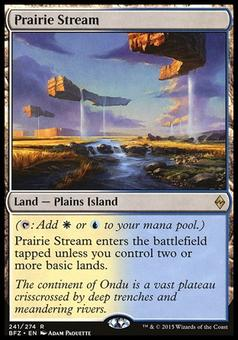 Magic the Gathering Battle for Zendikar Single Prairie Stream Foil NEAR MINT (NM)