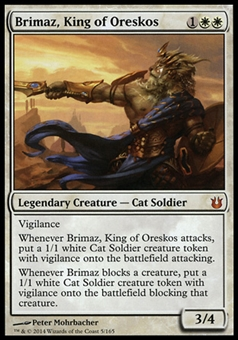 Magic the Gathering Born of the Gods Single Brimaz, King of Oreskos - MODERATE PLAY (MP)