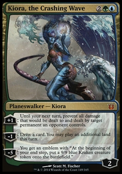 Magic the Gathering Born of the Gods Single Kiora, the Crashing Wave - SLIGHT PLAY (SP)